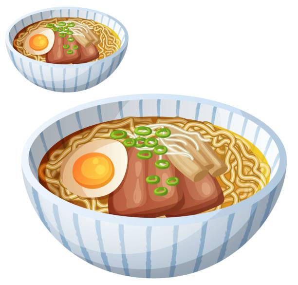分離された日本のラーメン スープ漫画ベクトル アイコン - ラーメン点のイラスト素材/クリップアート素材/マンガ素材/アイコン素材