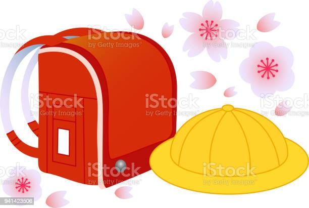 Japanese red school bag and school hat with falling cherryblossoms vector id941423506?b=1&k=6&m=941423506&s=612x612&h=84uhg2f8xqoecupvpy8tgqyt8wtg2cmgp0ahxcbhhy4=