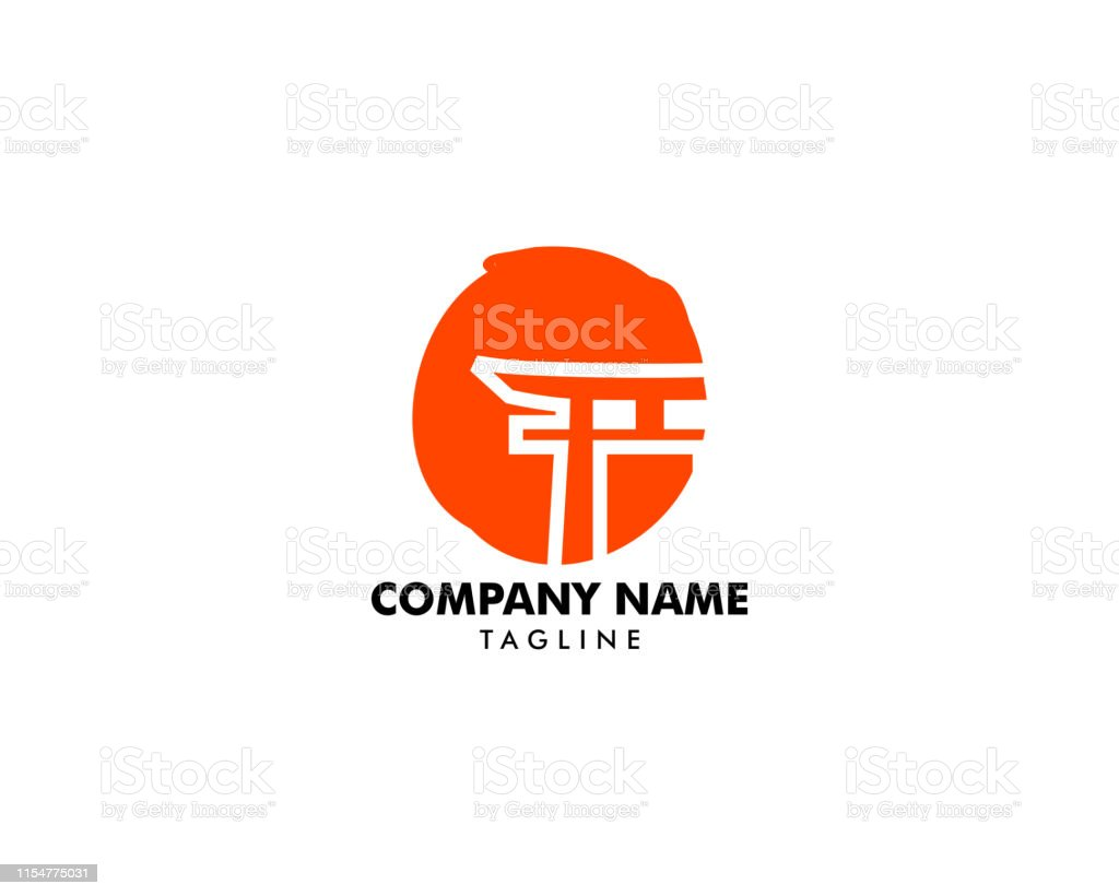 Japanese Red Torii Gate With Sun Logo Vector Design Stock Illustration Download Image Now Istock
