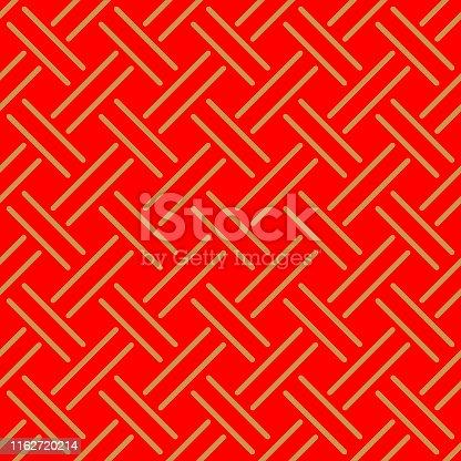 Japanese Red Weaving Seamless Pattern
