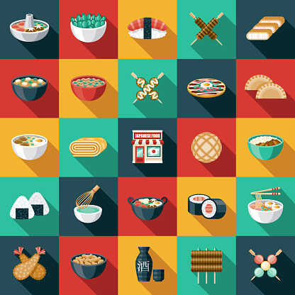 Japanese Restaurant Icon Set