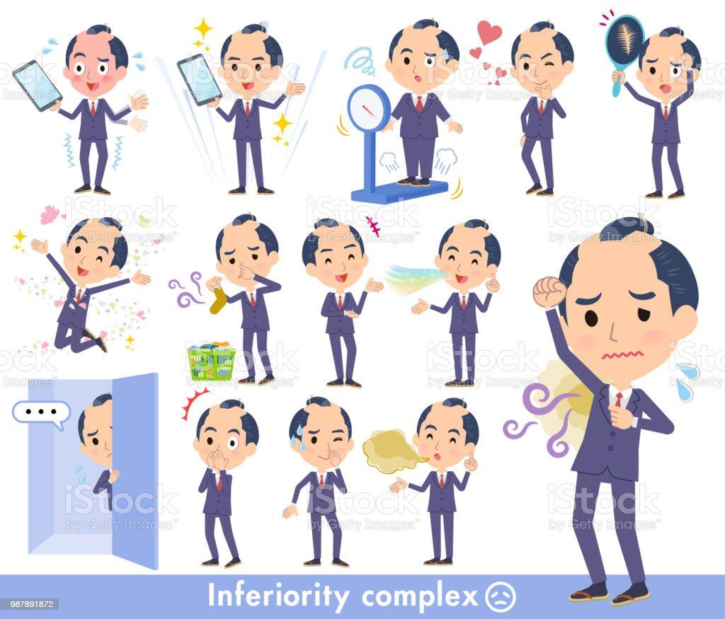 japanese samurai Businessman_complex vector art illustration