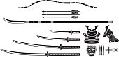 Japanese Samurai Vintage Equipment