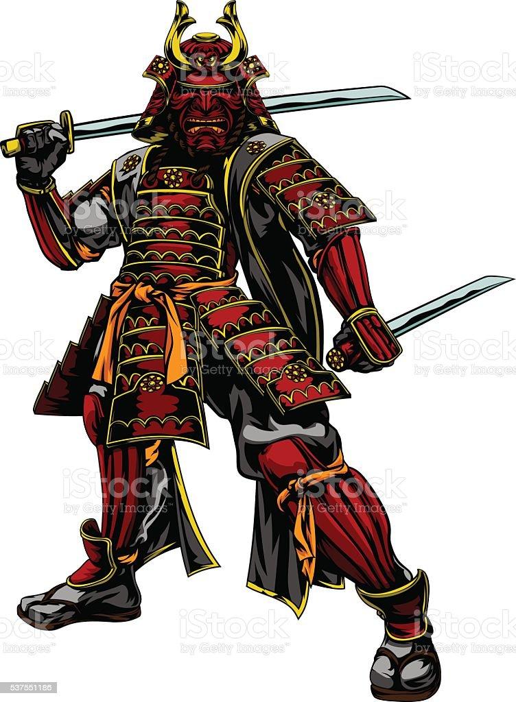 Japanese Samurai Warrior Stock Illustration Download Image Now Istock