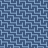 Japanese Step Maze Vector Seamless Pattern