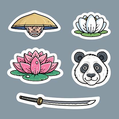 Japanese sticker set