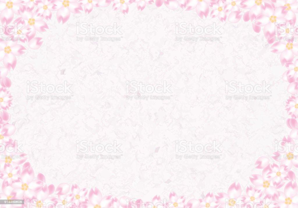 Rahmen Mit Kirschblüten Im Japanischen Stil Vektor Illustration ...