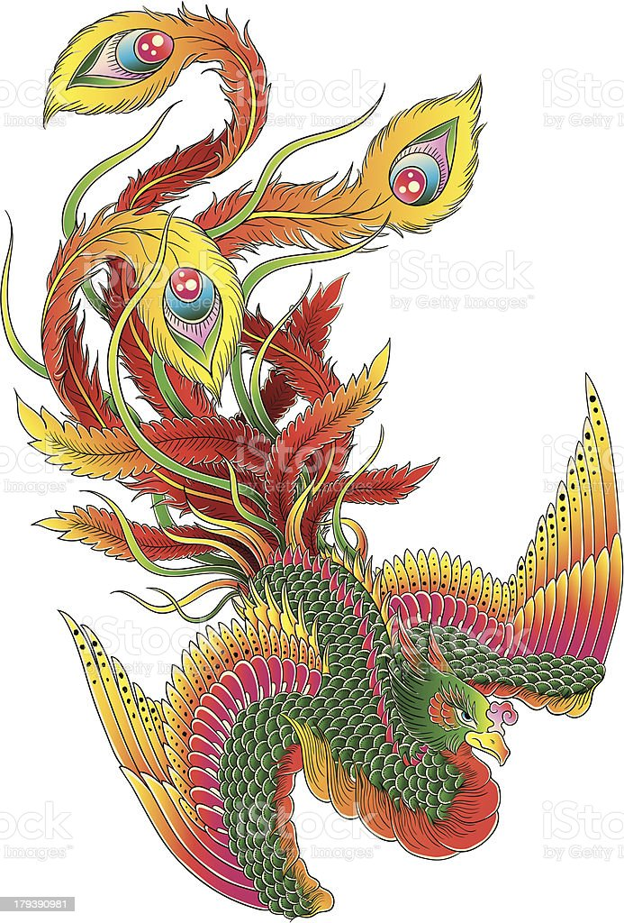 Japanese Style Phoenix royalty-free japanese style phoenix stock vector art & more images of ancient