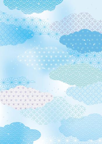 Japanse Zomerdag Verse Japanse Patroon Stockvectorkunst en meer beelden van Abstract