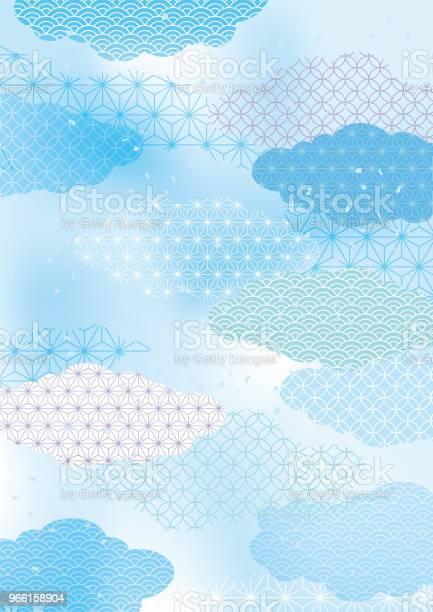 Japanese Summers Fresh Japanese Pattern - Arte vetorial de stock e mais imagens de Abstrato