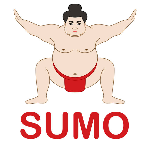 japan sumo-wrestler - sumo stock-grafiken, -clipart, -cartoons und -symbole