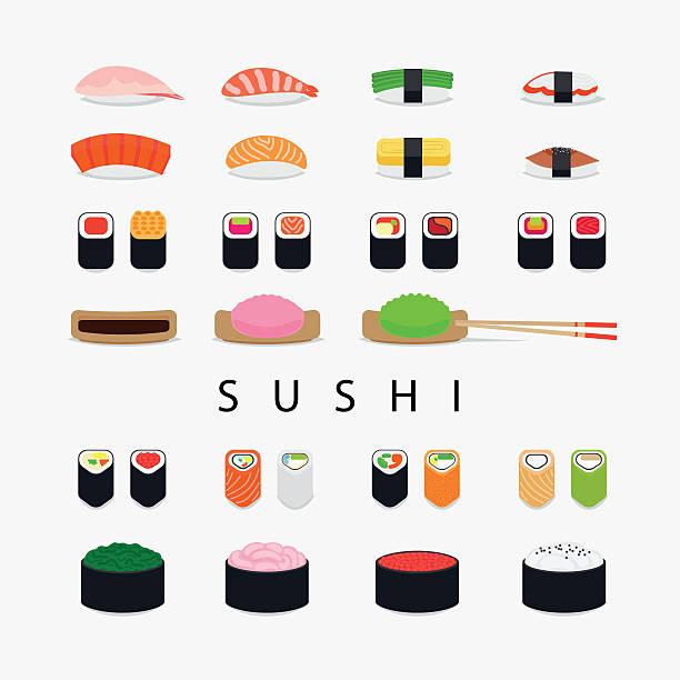 寿司のアイコン - わさび点のイラスト素材/クリップアート素材/マンガ素材/アイコン素材