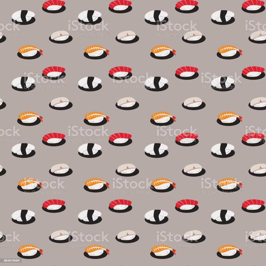 Japanese Sushi Pattern Seamless Background royalty-free japanese sushi pattern seamless background stock vector art & more images of art
