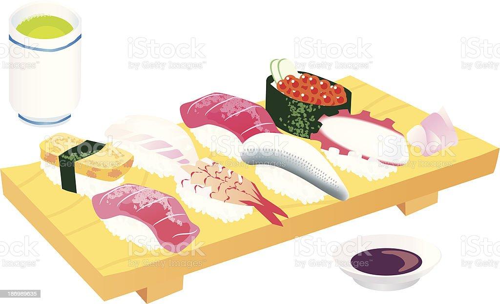 日本の寿司 ベクターアートイラスト