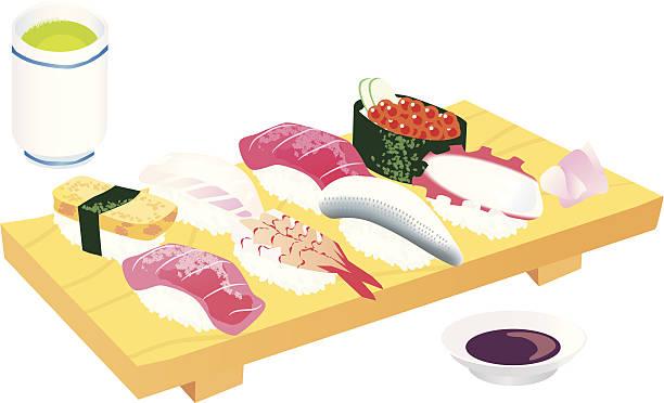 日本の寿司 - 寿司点のイラスト素材/クリップアート素材/マンガ素材/アイコン素材
