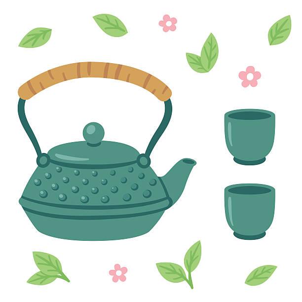 日本のお茶のセット - 抹茶点のイラスト素材/クリップアート素材/マンガ素材/アイコン素材