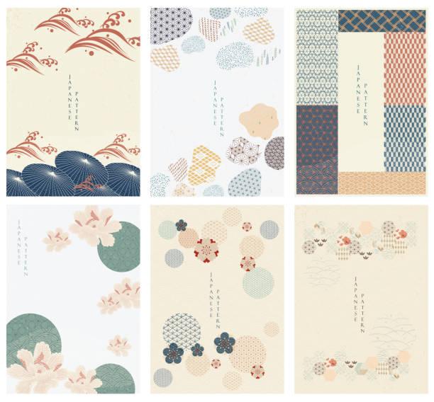 日本語のテンプレート ベクトル。幾何学的背景。傘、および抽象要素。中国風の紙の壁紙。自然な贅沢な質感 - 日本点のイラスト素材/クリップアート素材/マンガ素材/アイコン素材