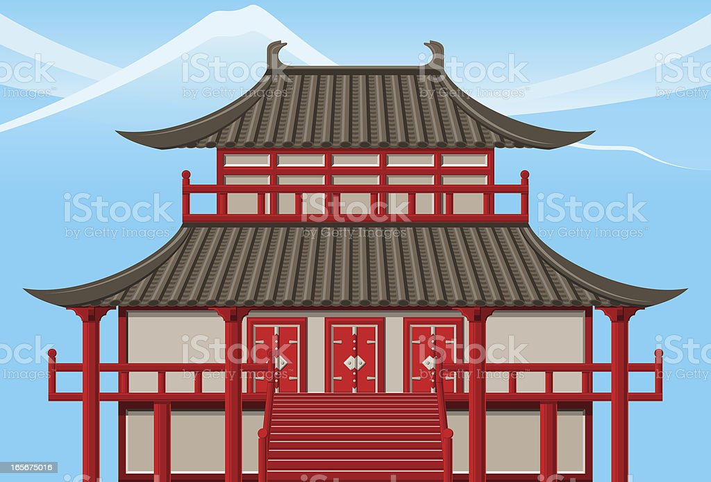 Japanese temple royalty-free stock vector art