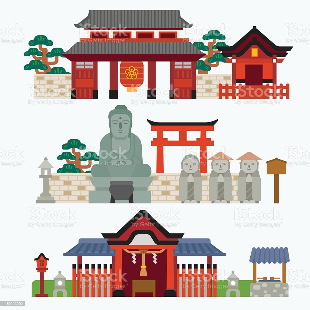 Japanese Temple Royalty Free Stock Vector Art Amp More Images Of Bridge