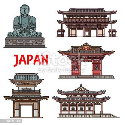 istock Japanese temples, pagodas Kamakura architecture 1253782950