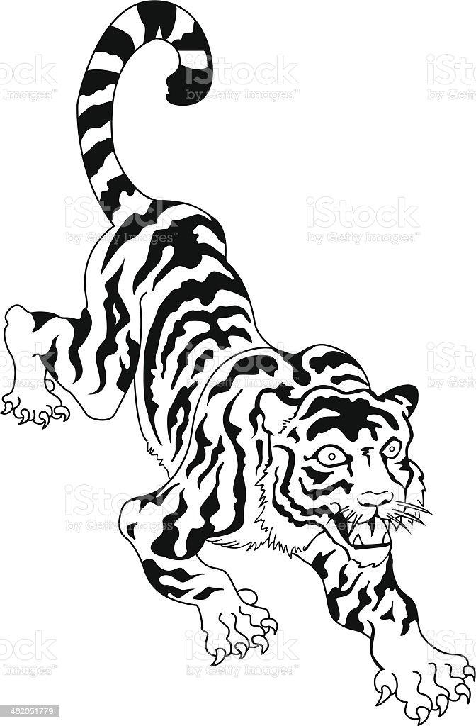 Tatouage Tigre Japonais Cliparts Vectoriels Et Plus D Images De