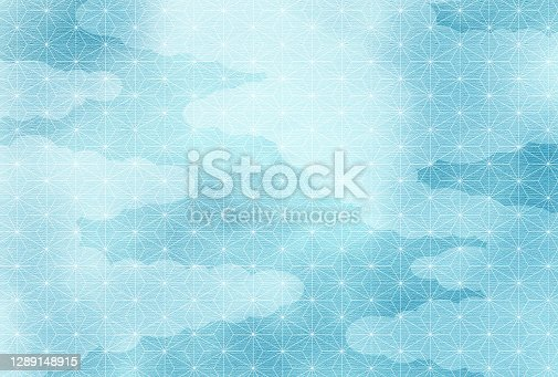 istock Japanese Traditional Design. Blue Background. 1289148915