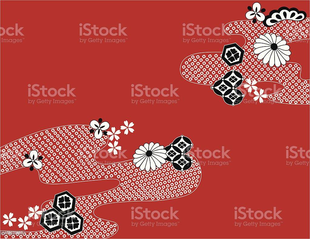 japanese traditional design vector art illustration