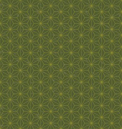 Japanese traditional hemp leaf pattern