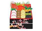 日本の伝統的な新年の皿