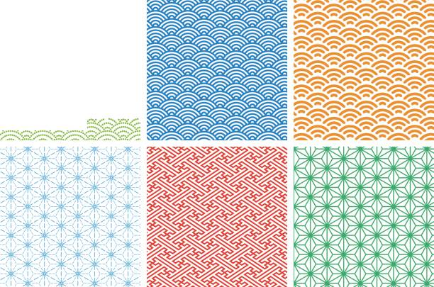 Japanese traditional pattern 01 for Swatch vector illustration EPS10 japanese culture stock illustrations