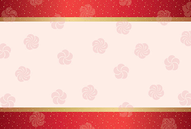 Japanese traditional pattern background ベクターアートイラスト