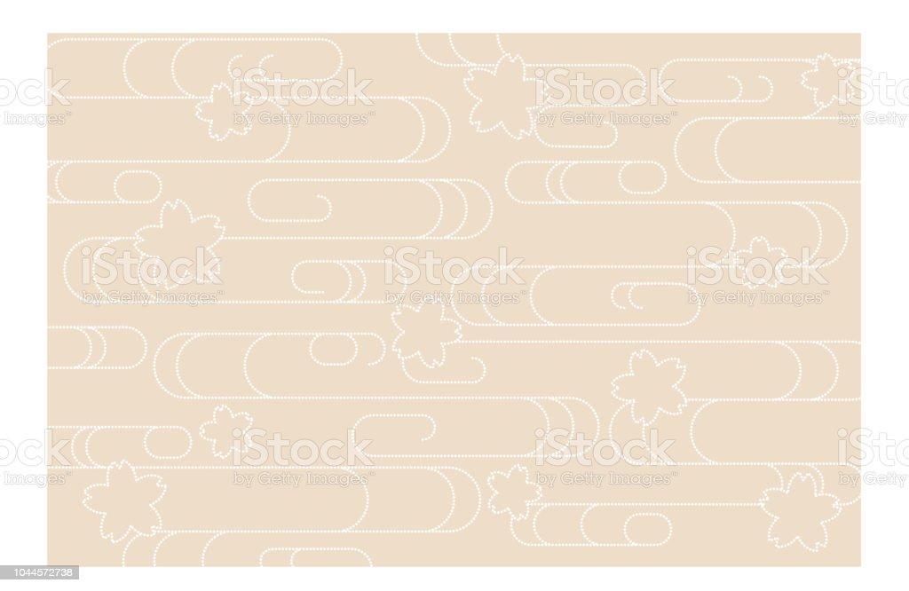 6853bc377 Ilustración de Japonés Tradicional Kimono Nube De La Onda De Fondo y ...
