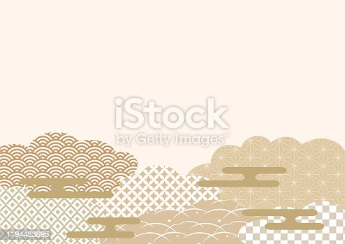 istock Japanese traditional pattern. 1194433695