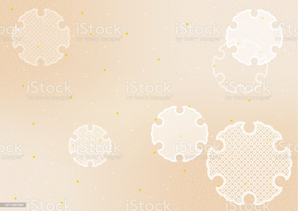 Japanese traditional patterns. Snow ring. vector art illustration