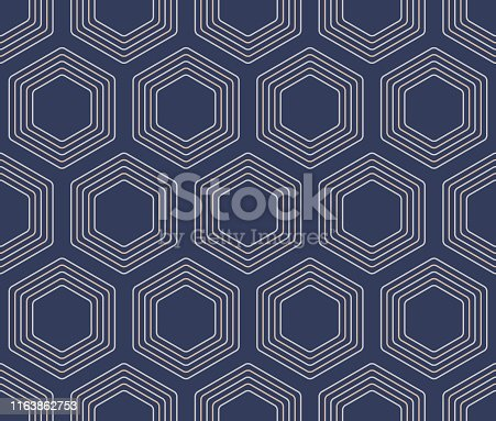 Japanese Turtle Shell Seamless Pattern