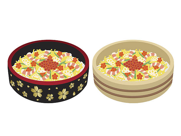 japanese type of sushi - 和食点のイラスト素材/クリップアート素材/マンガ素材/アイコン素材