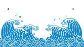 Japanese wave of blue wave