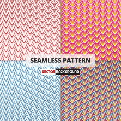 Japanese Wave Pattern Seamless
