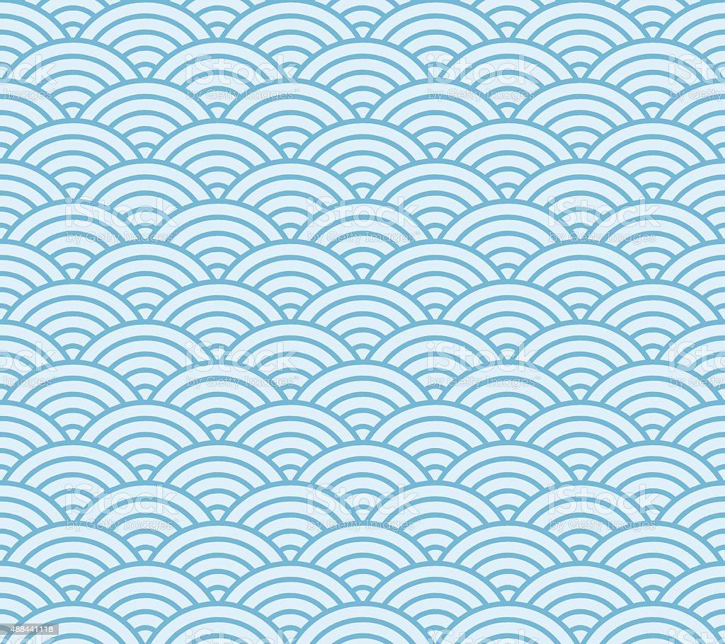 royalty free light blue waves japanese pattern clip art vector rh istockphoto com Japanese Cloud Clip Art Blue Wave Clip Art