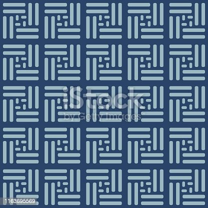 Japanese Weave Square Seamless Pattern
