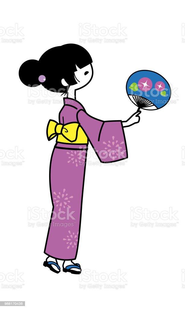 52b0e655d Ilustración de Mujer Japonesa En Yukata y más Vectores Libres de ...