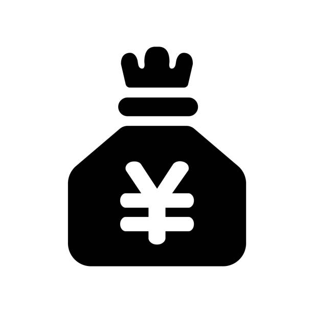 Japanese yen bag icon Japanese yen bag icon japanese currency stock illustrations