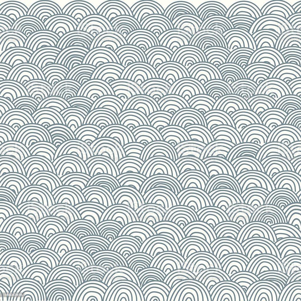 Japan-Style Wave Pattern vector art illustration