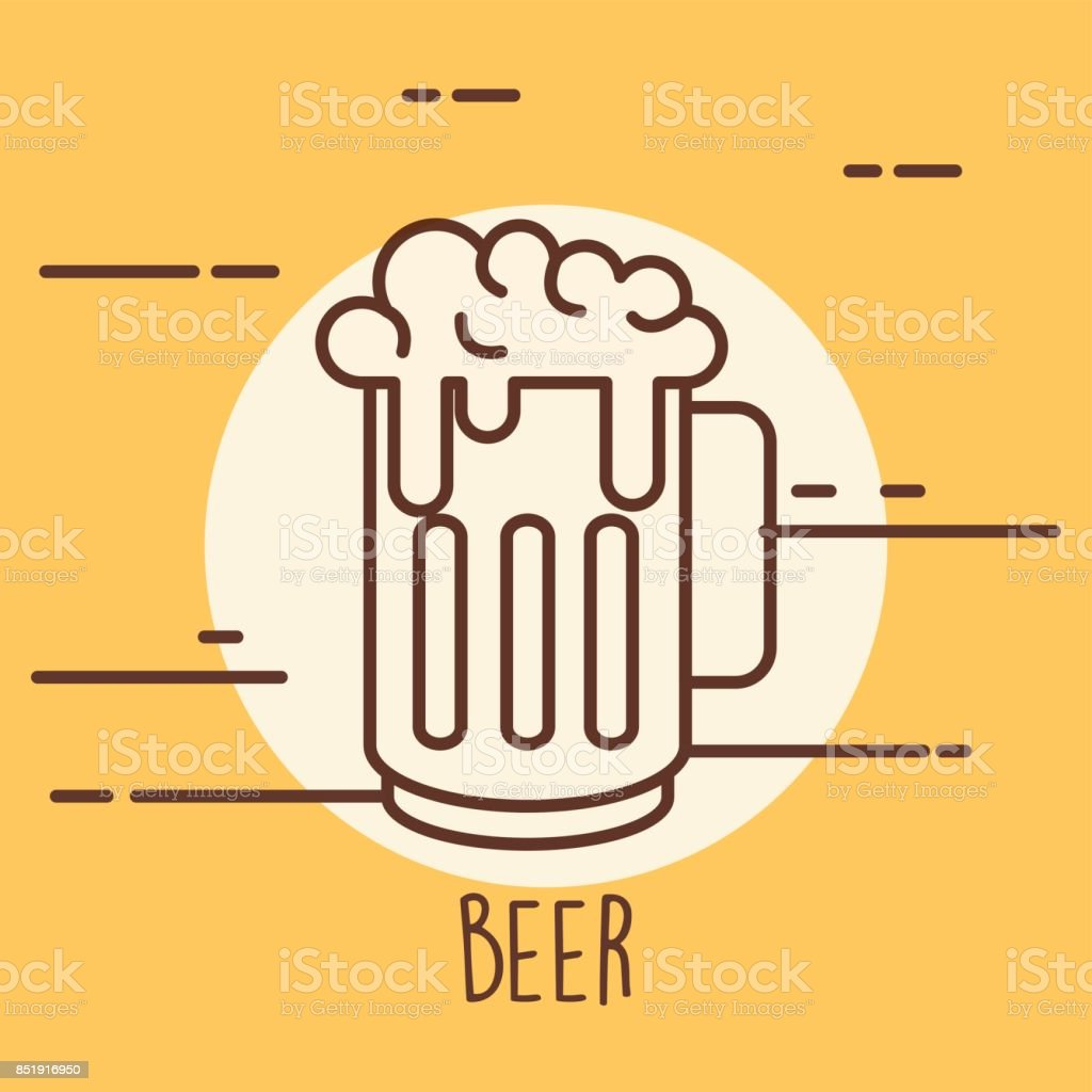 jar beer drink isolated icon vector art illustration