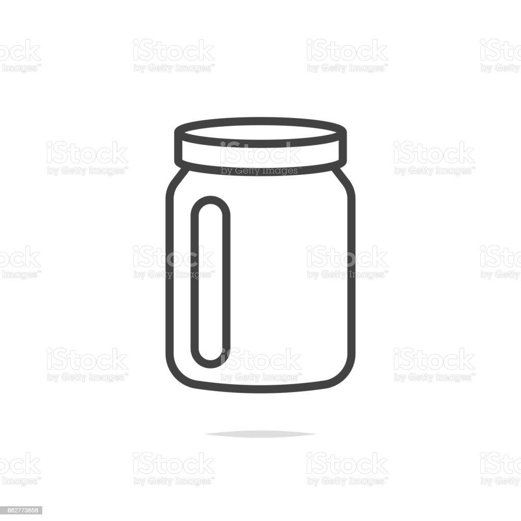 Jar icon vector vector art illustration