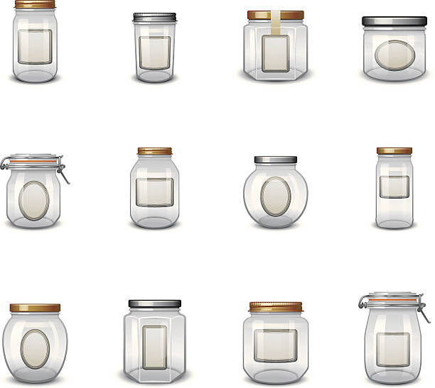 ilustrações de stock, clip art, desenhos animados e ícones de boião ícones com as etiquetas - jam jar