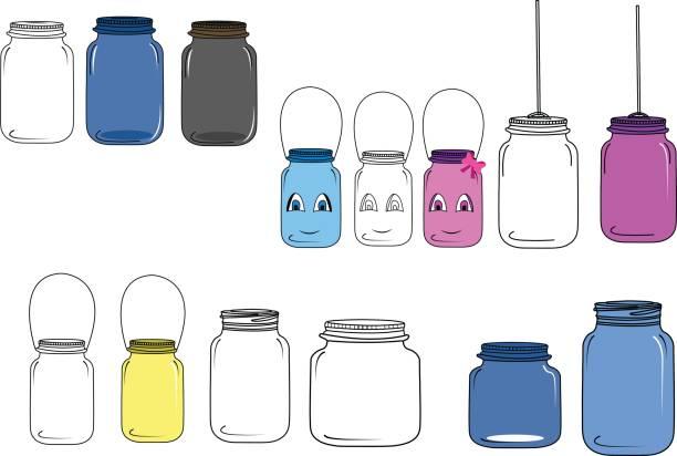 Jar illustration / jar vector clip-art jar cartoon, line art as well as illustration vector jar stock illustrations