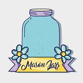 jar mason style with rustic preserve