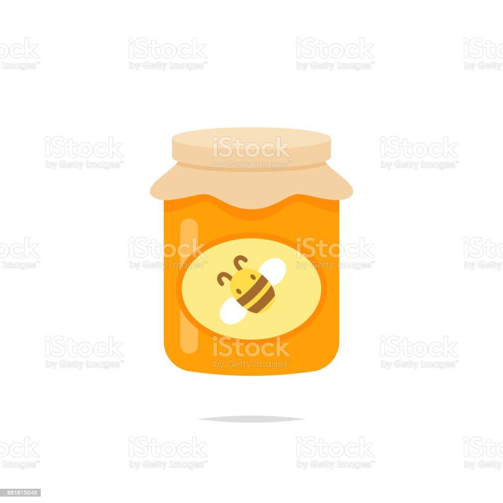 Jar of honey icon vector vector art illustration