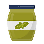 jar of pesto Flat Design icon